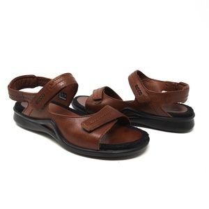 Ecco   Brown leather sandals, hiking sandals, 38